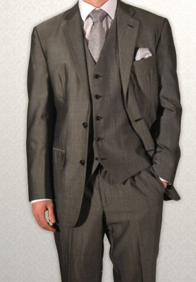 Modern grey Mohair lightweight lounge suit