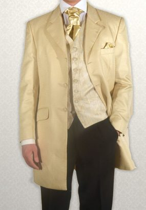 Gold Scroll Three-Quarter Length Jacket