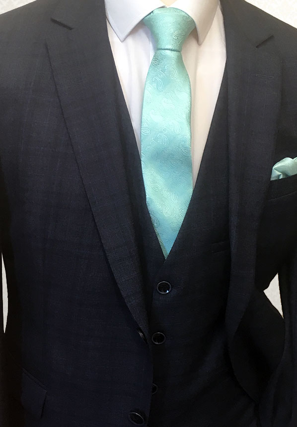 Check Navy Lounge Suit