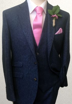 Tweed Blue Lounge Suit