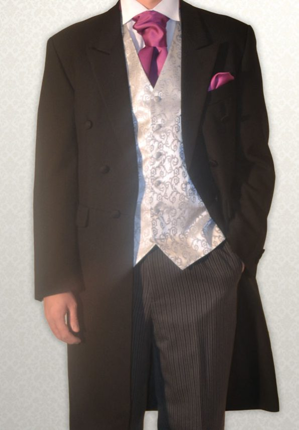Black Full Length Frock Coat