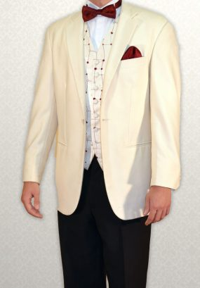 White single-breasted three-quarter length lounge suit