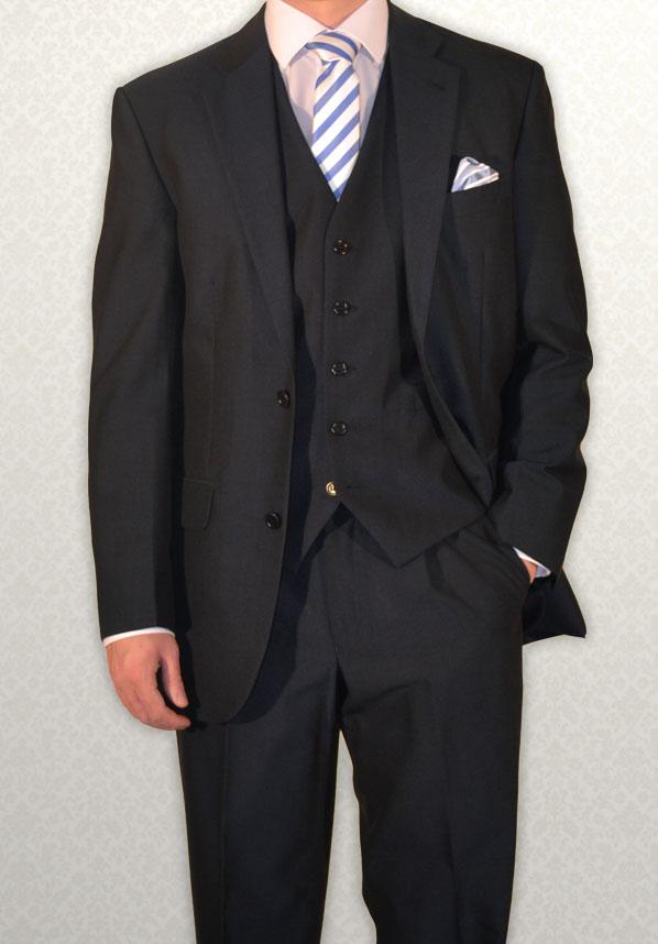 Modern Navy Mohair lightweight lounge suit