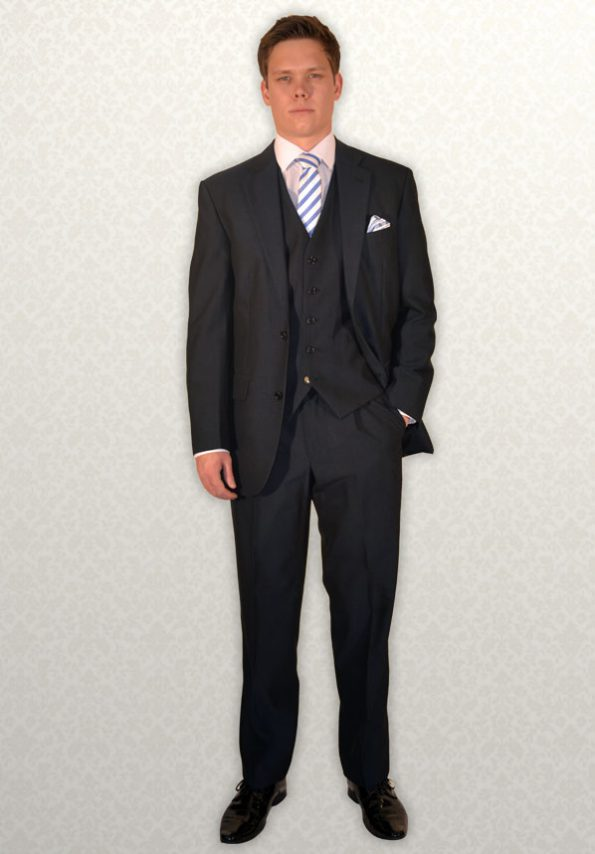 Modern Navy Mohair lightweight lounge suit