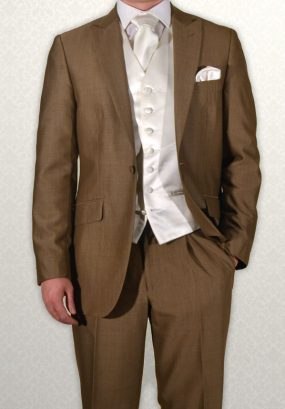Gold Mohair Lounge Suit