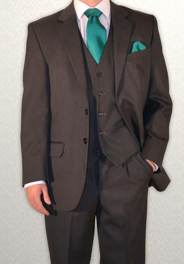 Grey Herringbone Lounge Suit