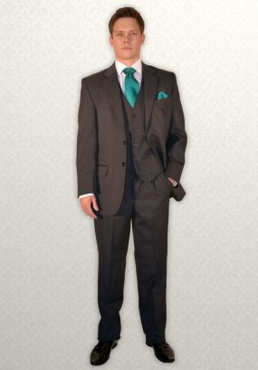 Grey Herringbone Lounge Suit