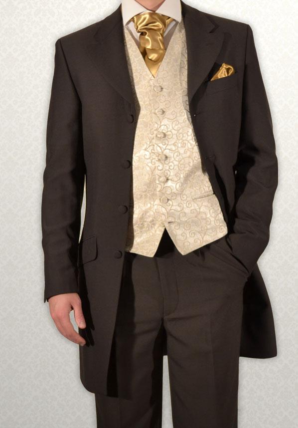 Brown Three-Quarter Prince Edward Frock Coat