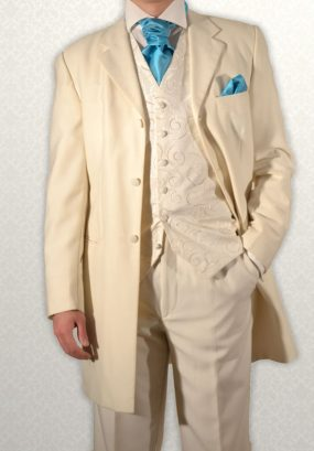 Ivory Three-Quarter Prince Edward Frock Coat