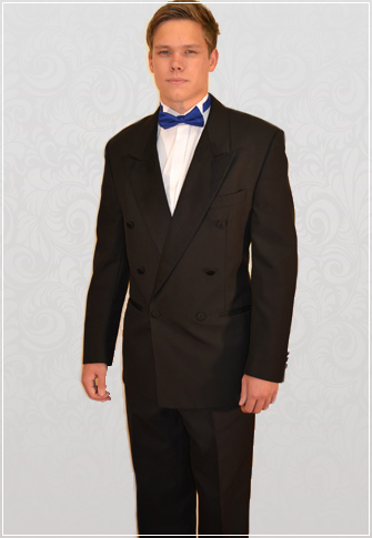 Black Double-Breasted Dinner Suit