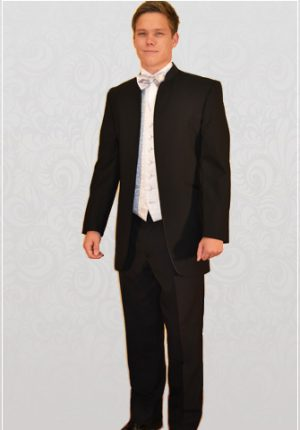 Black Nero 3/4 Dinner Suit