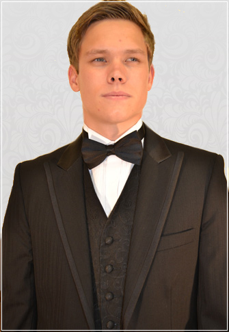 Black Parisian Pinstripe 2 Button Designer Dinner Suit
