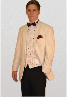 White Single-Breasted 1 Button Tuxedo