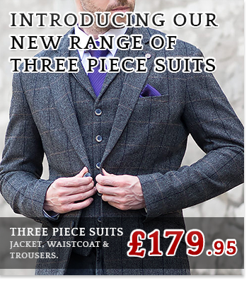 Three Piece Suits Now Available